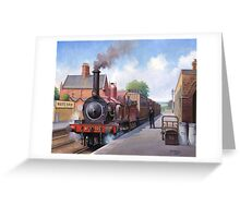 Wareham station 1875 Greeting Card