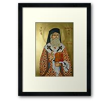 "Saint Nectarios ""Greek Icon"" Framed Print"
