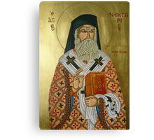 """Saint Nectarios """"Greek Icon"""" Canvas Print"""