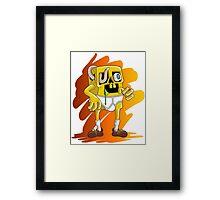Zombie Bob Triangle Pants Framed Print