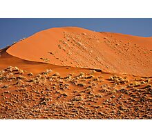 Red curve of dune Photographic Print