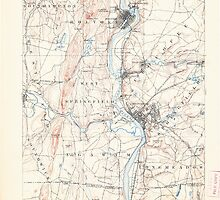 Massachusetts  USGS Historical Topo Map MA Springfield 353054 1895 62500 by wetdryvac