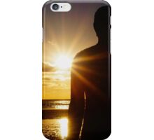 Iron Man at Sunset, Crosby Beach iPhone Case/Skin