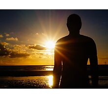 Iron Man at Sunset, Crosby Beach Photographic Print
