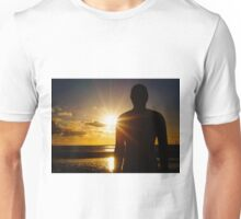 Iron Man at Sunset, Crosby Beach Unisex T-Shirt