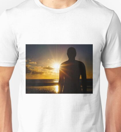 Iron Man at Sunset, Crosby Beach Unisex T-Shirt