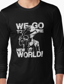 One Piece Monkey D. Luffy We Go To The New World Mugiwara Strawhats Pirates Anime Cosplay T Shirt Long Sleeve T-Shirt