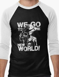 One Piece Monkey D. Luffy We Go To The New World Mugiwara Strawhats Pirates Anime Cosplay T Shirt Men's Baseball ¾ T-Shirt