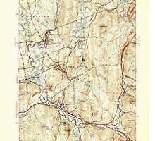 Massachusetts  USGS Historical Topo Map MA Palmer 352043 1946 31680 by wetdryvac