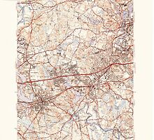 Massachusetts  USGS Historical Topo Map MA Natick 351955 1943 31680 by wetdryvac