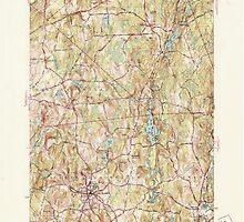 Massachusetts  USGS Historical Topo Map MA North Brookfield 351991 1946 31680 by wetdryvac