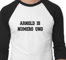 Retro Arnold Is Numero Uno Men's Baseball ¾ T-Shirt