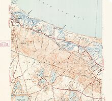 Massachusetts  USGS Historical Topo Map MA Sandwich 352149 1943 31680 by wetdryvac