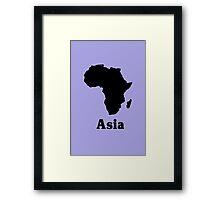 Africa asia geek funny nerd Framed Print