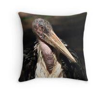 Portrait of a Stork Throw Pillow