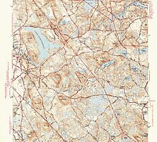 Massachusetts  USGS Historical Topo Map MA South Groveland 352191 1944 31680 by wetdryvac
