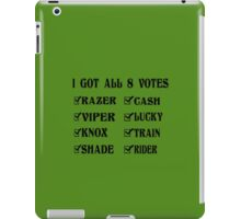 All 8 votes shirt black inspired by fan robynbello geek funny nerd iPad Case/Skin