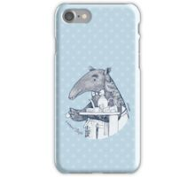 Tea time starts now - Malayan Tapir iPhone Case/Skin