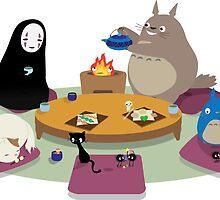 Studio Ghibli Tea Time by Peevelmouse