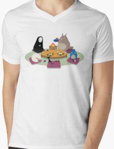 Studio Ghibli Tea Time Mens V-Neck T-Shirt