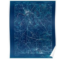 Massachusetts  USGS Historical Topo Map MA Lawrence 352793 1893 62500 Inverted Poster