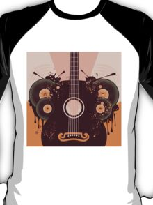 Retro Guitar Poster 2 T-Shirt