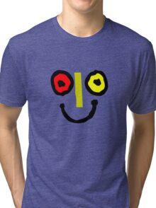 Bahamas goombay punch face geek funny nerd Tri-blend T-Shirt