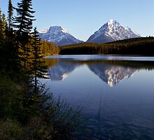 Hector lake by Michael Beckett