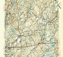 Massachusetts  USGS Historical Topo Map MA Shrewsbury 352166 1943 31680 by wetdryvac