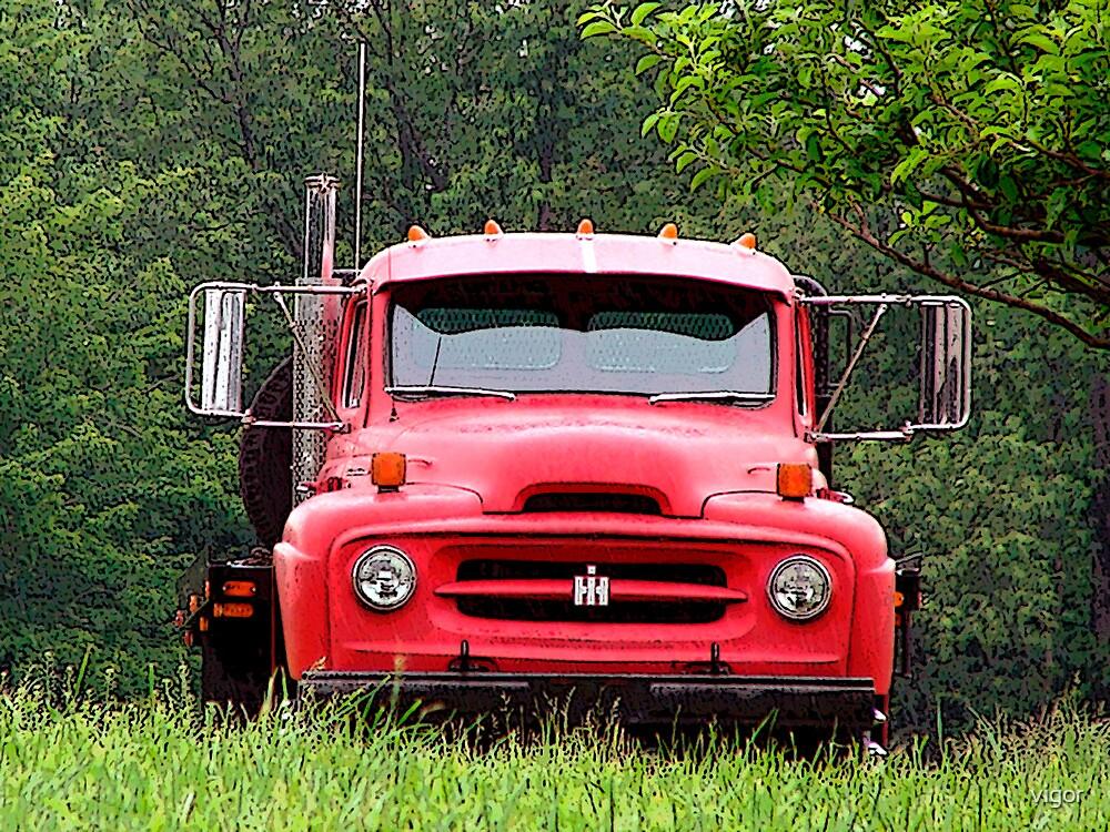 International harvester truck by vigor redbubble for International harvester decor
