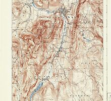Massachusetts  USGS Historical Topo Map MA Greylock 352751 1898 62500 by wetdryvac