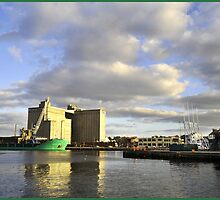 dawn on the docks by Albert  Baja
