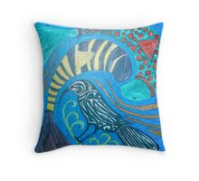 Huia Bird - Extinction Throw Pillow
