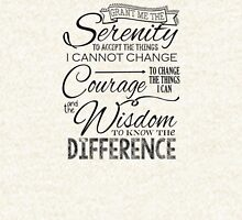 Serenity Prayer - Chalk Typography T-Shirt