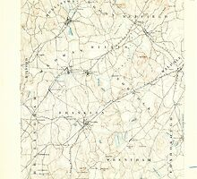 Massachusetts  USGS Historical Topo Map MA Franklin 352673 1893 62500 by wetdryvac