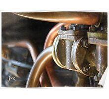 Steam Train Engine Works in Pastels Poster