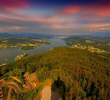 Lake Wörthersee Aerial by Delfino