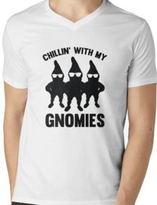 Chillin' With My Gnomies Mens V-Neck T-Shirt