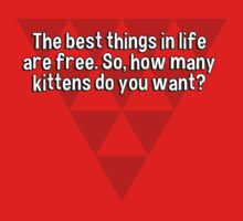The best things in life are free. So' how many kittens do you want?  by margdbrown