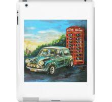 Mini Cooper with red telephone box iPad Case/Skin