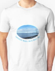 Beautiful sea, blue sky at Crescent Beach, BC, Canada, T-Shirt