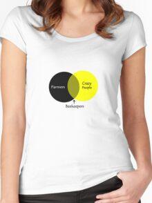 Beekeeping venn diagram geek funny nerd Women's Fitted Scoop T-Shirt