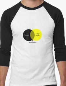 Beekeeping venn diagram geek funny nerd Men's Baseball ¾ T-Shirt
