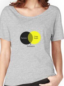Beekeeping venn diagram geek funny nerd Women's Relaxed Fit T-Shirt