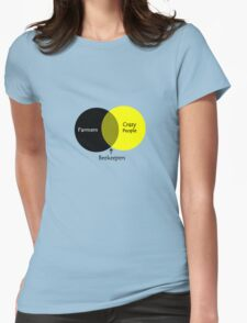 Beekeeping venn diagram geek funny nerd Womens Fitted T-Shirt