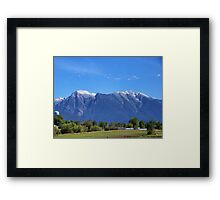 Mission Mountains (St. Ignatius) Framed Print