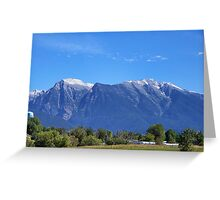 Mission Mountains (St. Ignatius) Greeting Card