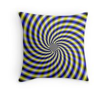 Blue and Yellow Swirl Throw Pillow