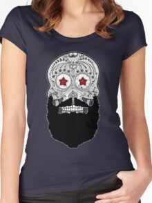 Skull Beard Women's Fitted Scoop T-Shirt