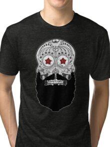 Skull Beard Tri-blend T-Shirt